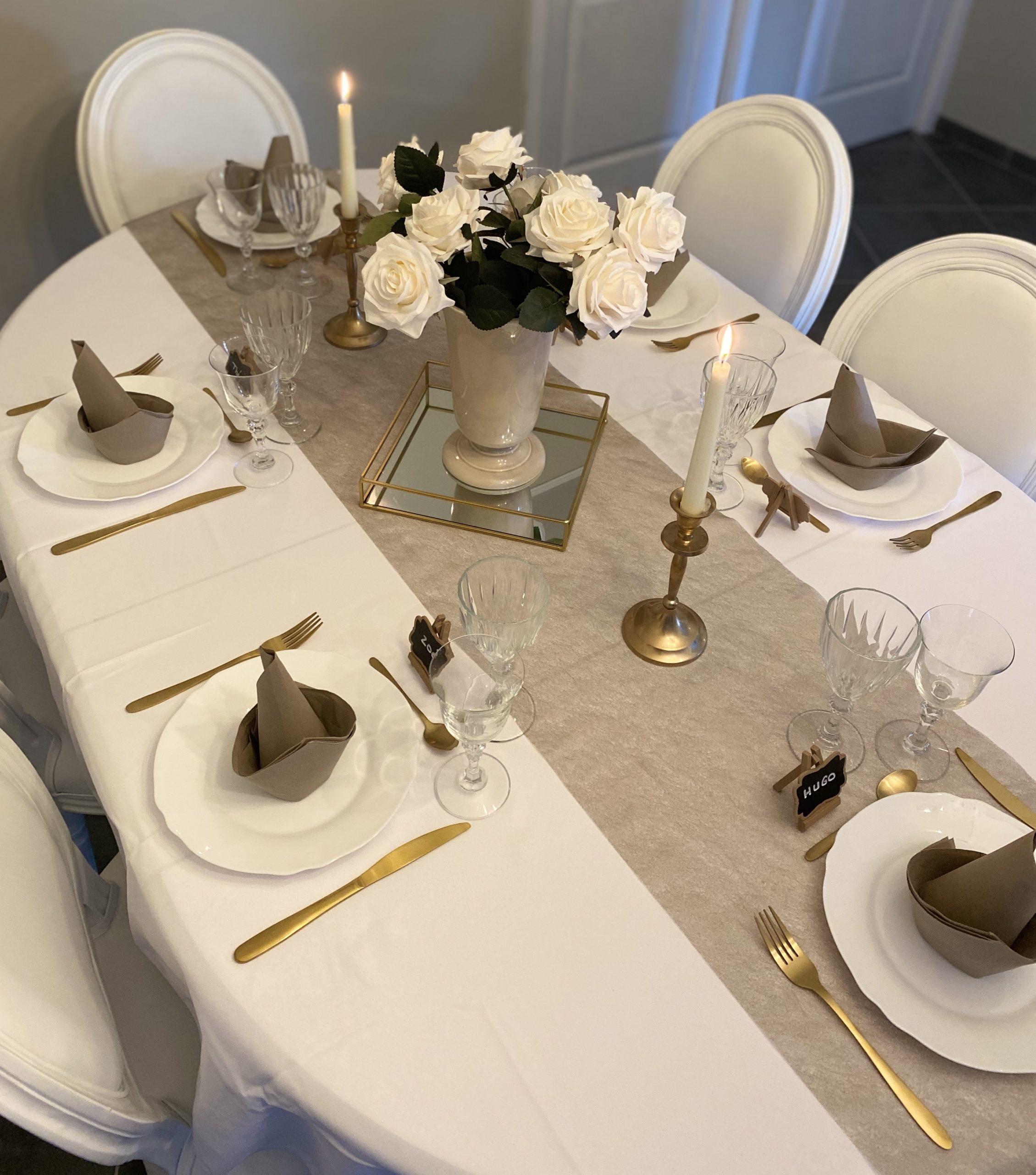 Table dressée à l'occasion d'une réception - C&D Events Wedding planner / Organisatrice d'événements privés Oise et Paris
