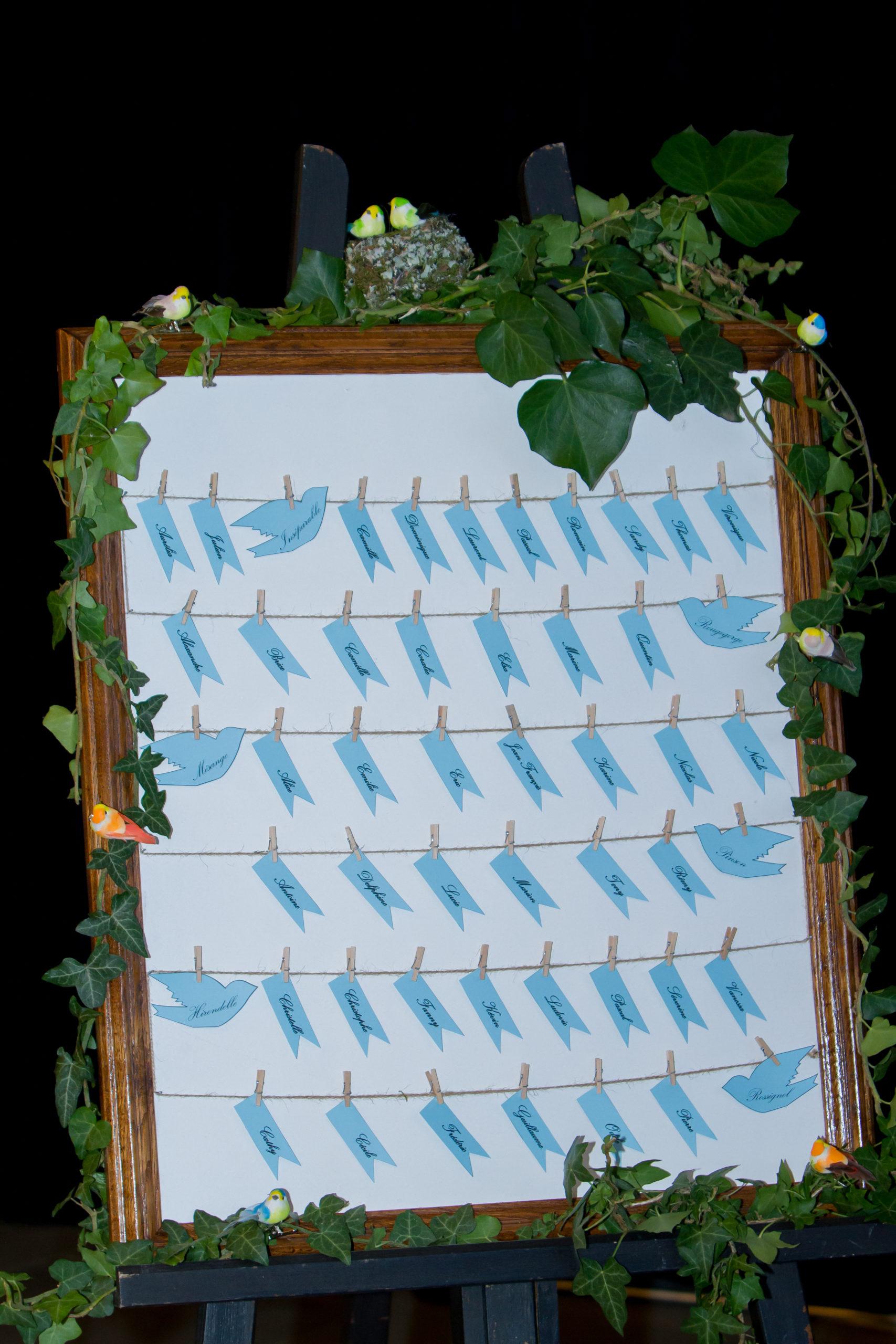Mariage A&J - Plan de table sur le thème nature - C&D Events Wedding planner Oise et Paris