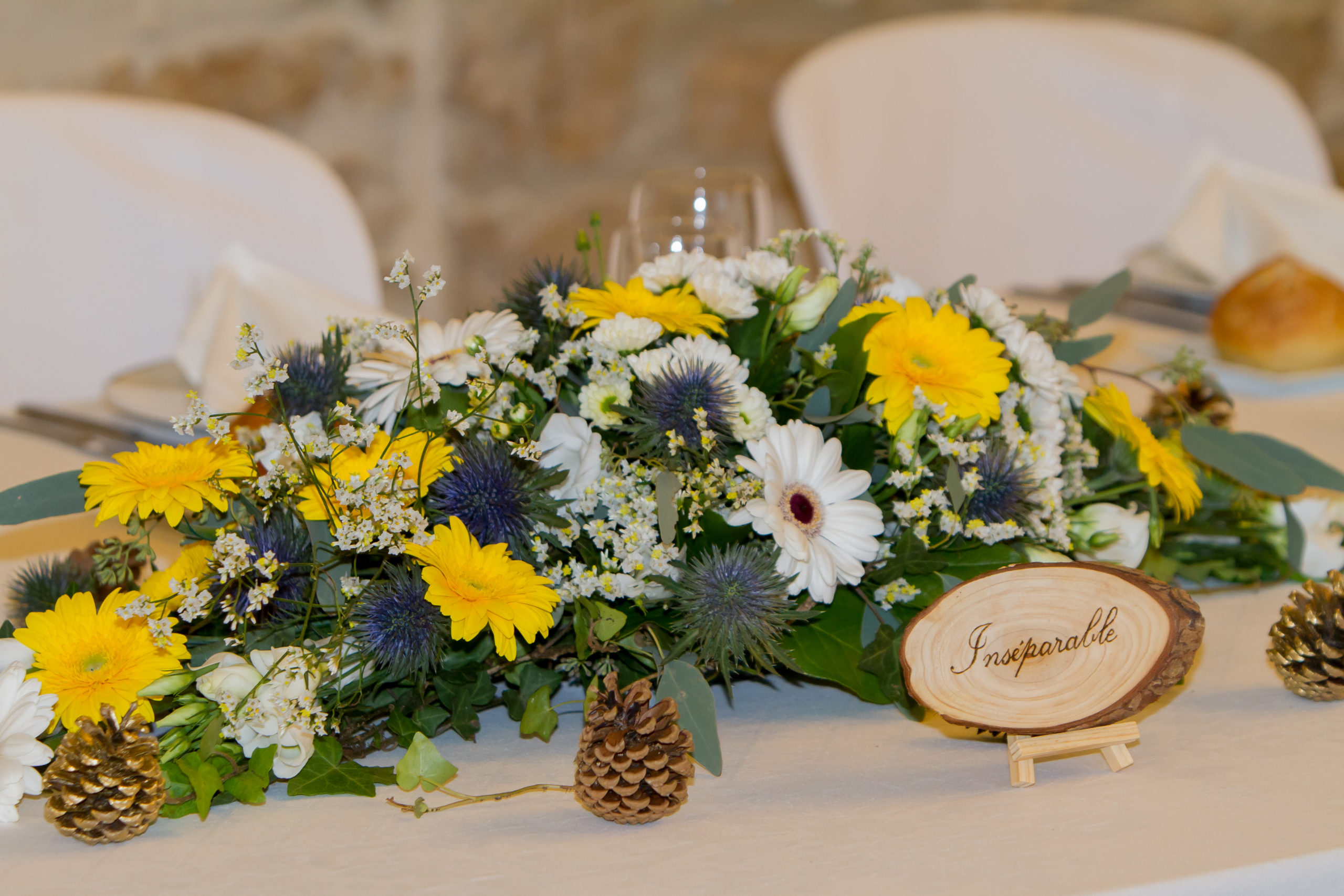 Mariage A&J - Centre de table - C&D Events Wedding planner Oise et Paris