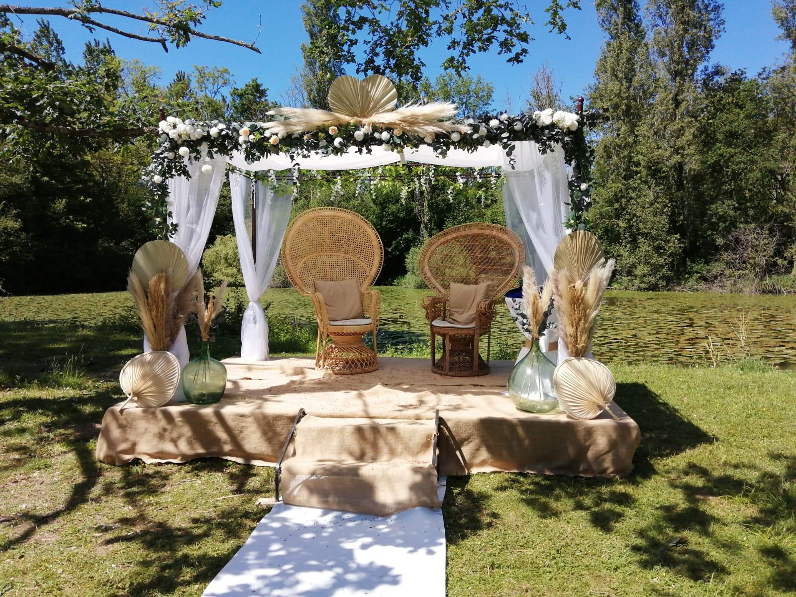 Houppa en fleurs séchées - Mariage juif - C&D Events - Wedding planner / Organisatrice de mariage dans l'Oise
