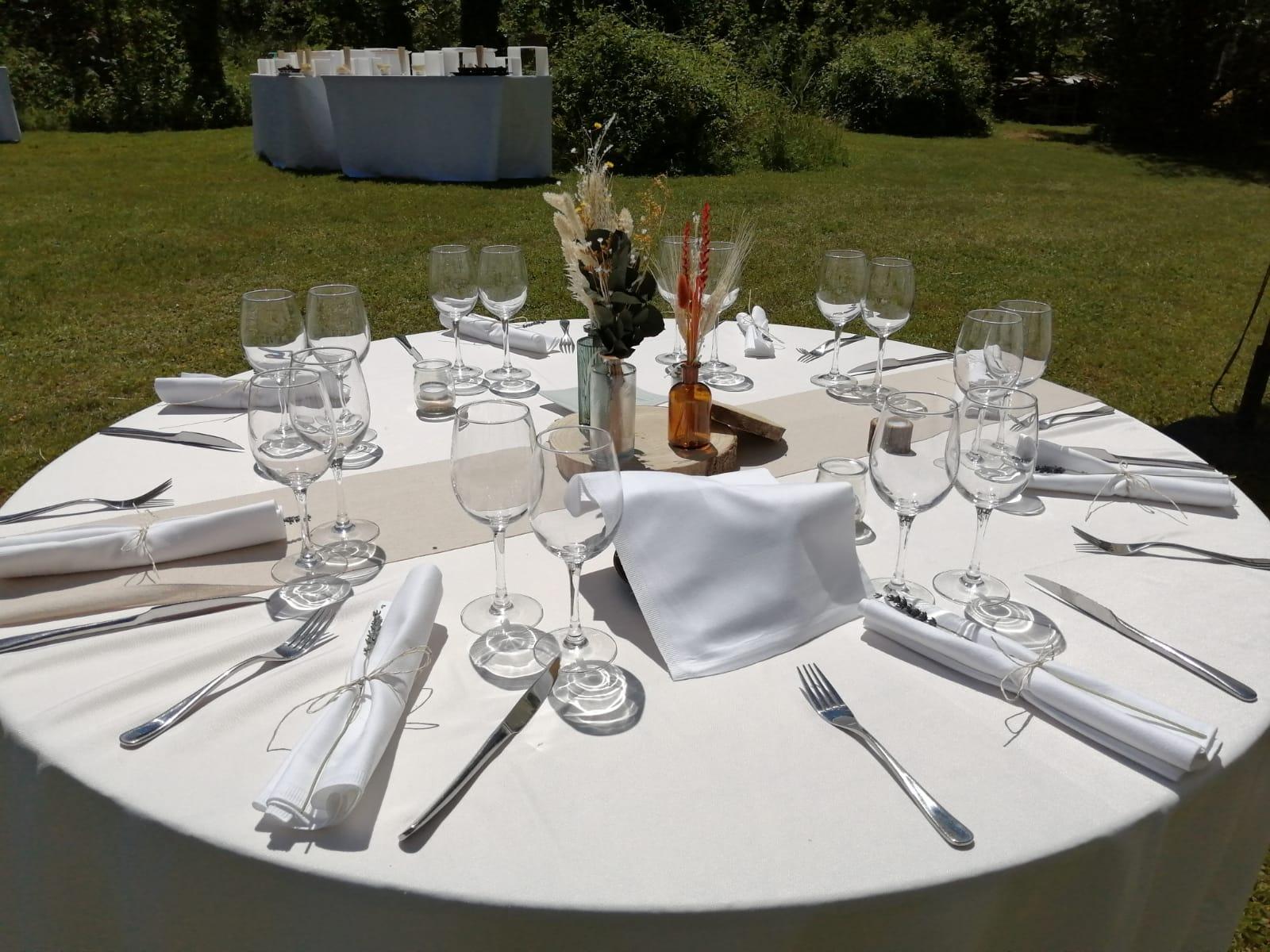 Décoration de table - Mariage - C&D Events, wedding planner / organisatrice de mariage dans l'Oise